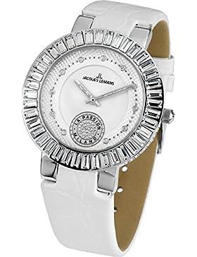 Jacques Lemans Damen-Armbanduhr Milano Analog Leder 1-1683B