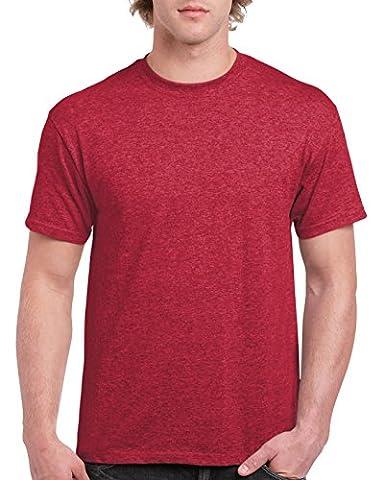 Gildan ultra T shirt Heather Cardinal L