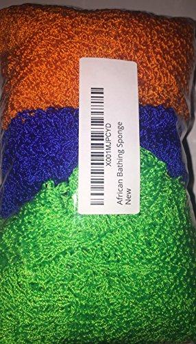 Made in Ghana Hecho en Ghana África Baño Esponja - 3 Pk