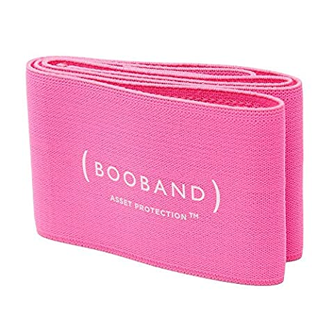 Booband Adjustable Breast Support Band Sports Bra Alternative, Pink