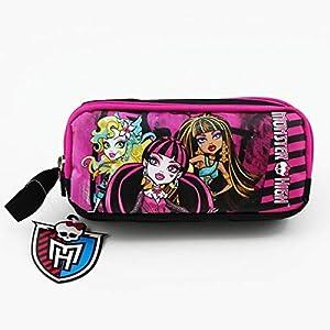 Bureze 2017 – Estuche escolar de gran capacidad, diseño de Monster High