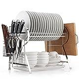 Lying Küche Edelstahl-Regale Schüssel Regal Disc-Halter Storage Rack ablassen Rack-Topf Rack Schneidebrett Rack-Küchenzubehör -Verwendet, um die Küche aufzuräumen ( Farbe : Silber )