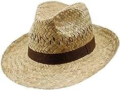 EveryHead Fiebig Sombrero De Paja Los Hombres Verano Playa Vacaciones  Equinácea Gorro Fiesta Unisex Con Marrón 7bb3746cf80