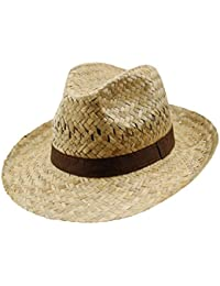 a4030ef3264d2 EveryHead Fiebig Sombrero De Paja Los Hombres Verano Playa Vacaciones  Equinácea Gorro Fiesta Unisex Con Marrón