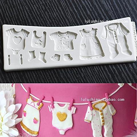 Astra Gourmet Baby Dusche Kleiderbügel Kuchen dekorieren Fondant Silikon Form Schokolade Candy Cupcake Form