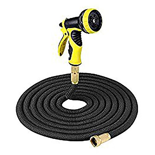 - 100 FT/Redzone 150ft Stretch Magic flexibel erweiterbar 3 x erweiterbar Dreilagiges natur Latex mit massivem Messing Schlauch Armaturen und professionelle 9 Funktion Spray Gun