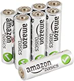 AmazonBasics Lot de de 8 piles alcalines Type AA 1,5 V
