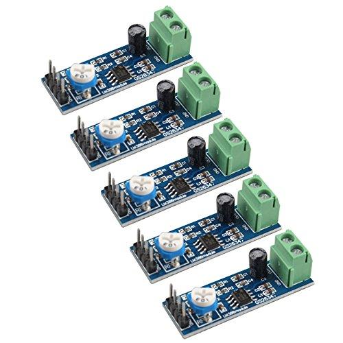 haljia 5PCS LM386Audio Verstärker Modul 200Mal 5–12V 10K Verstellbarer Widerstand für Arduino