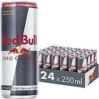 Red Bull Energy Drink Zero Calories 24 x 250 ml Dosen Getränke Zuckerfrei 24er Palette