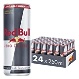 Red Bull Energy Drink Zero CALORIES, confezione da 24, monouso (24 x 250 ml)