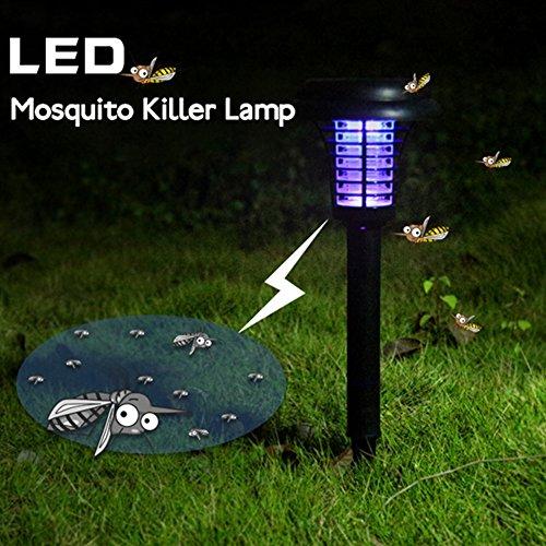 Solar Outdoor Licht Insektenvernichter/Bug Zapper/Mosquito killer- aufgehängt oder Stick in den Boden, Garten Licht (Garten Stick Light)