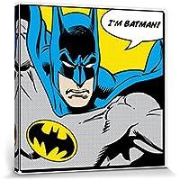 Batman - I'm Batman, Bocadillo Cuadro, Lienzo Montado Sobre Bastidor (40 x 40cm)