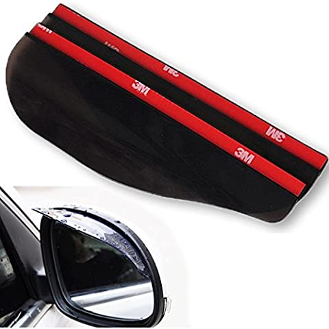2 x Universal Rear View Side Mirror Rain Board Sun Visor Shade Shield For Car / Truck / Van