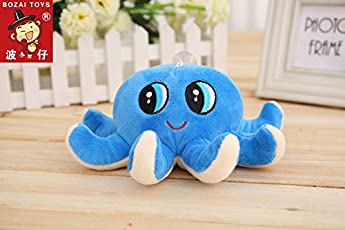Skylofts 18cm Cute Octopus Soft Stuffed Toy Sea Animal Fish Kids Baby Birthday Gift ( 1 pc Random Color)