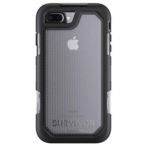 Griffin Survivor Extreme Coque pour iPhone 8 Plus, iPhone 7 Plus - Noir/Teintée