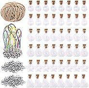 119 قطعة 6 أشكال برطمانات زجاجية مع سدادات الفلين، 48 قطعة من زجاجات الأمنية مع 50 قطعة من براغي العين، مشابك