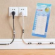 2 * 16pcs Wire Cable Clips Organizer Desktop & Workstation Clips Cord Management Holder USB Charging Data