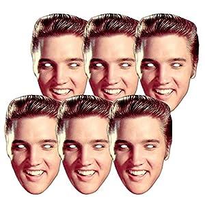 Star Cutouts-stsmp20-6máscaras para Adulto-Elvis Presley-Talla única