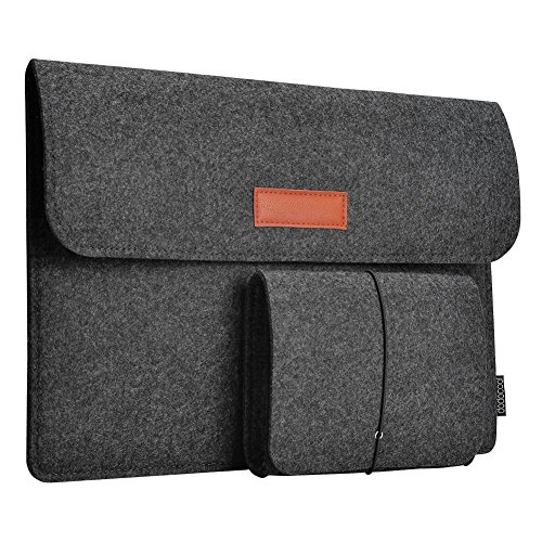 dodocool 12 Zoll Macbook Retina Laptop-Tasche, Filz Sleeve Hülle Laptop Sleeve Case für Samsung Galaxy TabPro S / 9.7 Zoll iPad Pro (dunkel - Karte-laptop-hülse