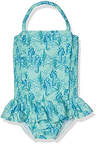Rachel Riley Seahorse Ruched Swimsuit, Maillot Une Pièce Fille