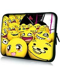 Luxburg® design housse sacoche pochette pour ordinateur portable 17,3 pouces, motif: Souriant émoticône