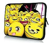 Luxburg® Design Laptoptasche Notebooktasche Sleeve für 15,6 Zoll (auch in 10,2 Zoll   12,1 Zoll   13,3 Zoll   14,2 Zoll   15,6 Zoll   17,3 Zoll) , Motiv: Smiley Emotion