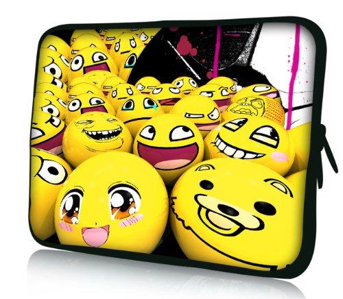 Luxburg® Design Laptoptasche Notebooktasche Sleeve für 17,3 Zoll, Motiv: Strümpfe Smiley Emotion