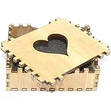 Bonito diseño de corazón de madera caja de regalo juego