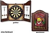 Dart-Cabinet Kings Head - Klassisches, sehr dekoratives Dart-Cabinet im englischen Stil