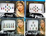 Lightahead Good Quality 4 PACK BOLLYWOOD HEAD BINDI TATTOO INDIAN ART RHINESTONE STICK ON REUSEABLE
