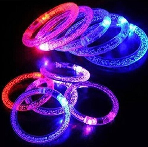 ühenden Armbändern LED blinkt Armband Spaß bunte leuchten Blase Armbänder für Hochzeiten Geburtstage Urlaub Konzert Party Gefälligkeiten Kinder Spielzeug (Gemischte Farbe) (Glowstick-halskette)