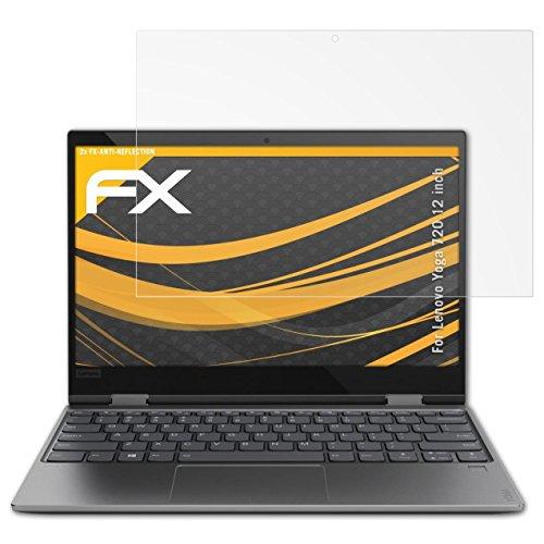 atFolix Panzerfolie kompatibel mit Lenovo Yoga 720 12 inch Schutzfolie, entspiegelnde & stoßdämpfende FX Folie (2X)