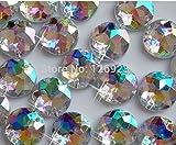 Perlas sueltas de piedras preciosas claro AB 150pcs 13 mm de coser redonda en strass de acrílico Crystal Flatback strass piedra de diamante de mano de costura