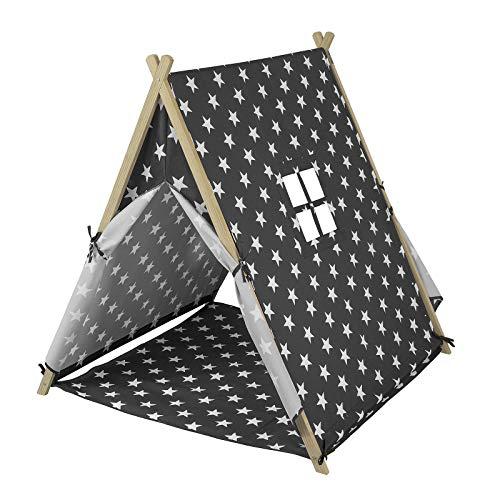 SoBuy OSS02 Spielzelt mit Sternen Zelt für Kinder mit 2 Türen und Einem Fenster Spielhaus BHT ca.: 105x109x100cm