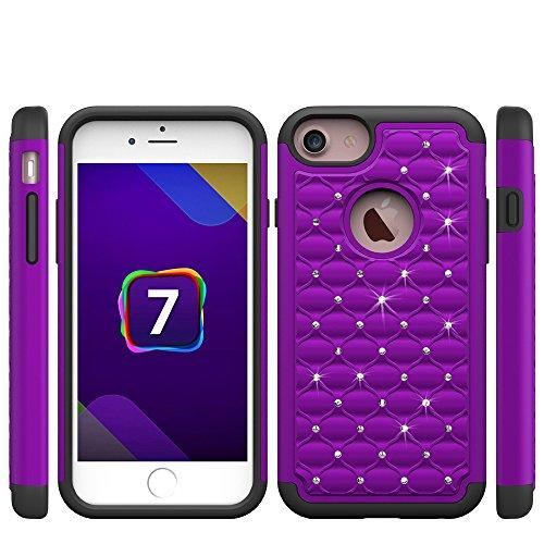 iPhone 7 Plus Hard Case Hülle,iPhone 7 Plus Glitzer Hülle,iPhone 7 Plus Transparent Hülle,iPhone 7 Plus Crystal Clear Case Hülle Klare Cristall Liquid Bling Schutzhülle Etui für iPhone 7 Plus 5.5 Zoll D Bling Case 3