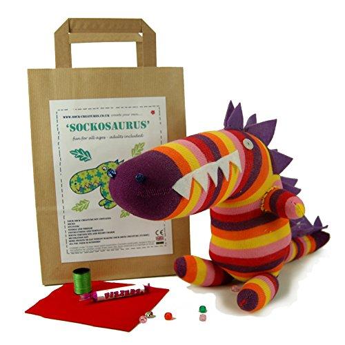 Sockasaurus Sock Sewing craft dinosaur kit