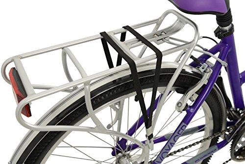 51PH 9BDueL - Falcon Women's Voyager Hybrid Bike-Purple, 12 Years