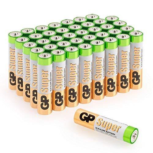 """GP Batterien AAA Micro Super Alkaline Vorratspack 40 Stück in praktischer \""""Briefkasten-tauglicher\"""" Versandverpackung [Markenprodukt GP Batteries]"""