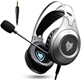 Gaming Headset, NUBWO 3.5mm Surround Stereo Wired Gaming Headphones With Microphone And Volume Control For PC/Ps4/Xbox One/Phone/Laptop (Sliver 3.5mm Plug)