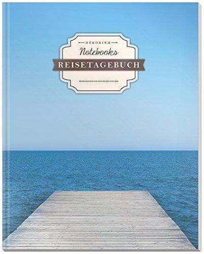 DÉKOKIND Reisetagebuch zum Selberschreiben | DIN A4, 100+ Seiten, Register, Vintage Softcover | Auch als Abschiedsgeschenk | Motiv: Freiheitlich