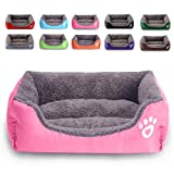 MONIKI Dog Bed, Super Soft Pet Sofa Cats Bed, Non Slip Bottom Pet Lounger,Self Warming and Breathable Pet Bed Premium BeddingM: 18