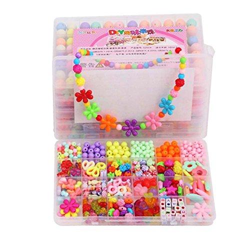 Alien Storehouse DIY Perlen Set Halskette Armband Schmuck machen Handwerk Kits für Kinder - ca. 460 Perlen - 08