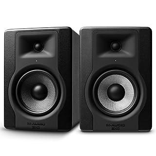 M-Audio BX5 D3 - Professionelle 2-Wege Aktiv Studiomonitor Lautsprecher für Musikproduktion und Mixing mit eingebauter Acoustic Space Control, 2 Stück