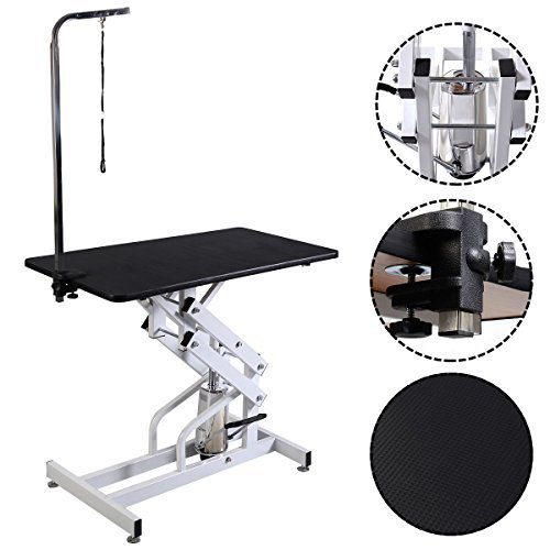 HPD 42.5'' x 23.6'' Z-Lift Hydraulic Pet Dog Adjustable Grooming Table...