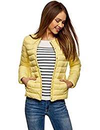 oodji Ultra Women's Round Neck Quilted Jacket