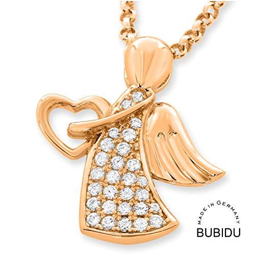 Engelkette 925 Silber Kette Engel rosegold ❤️ Goldkette zur Taufe mit Engel ❤️ Geschenk Baby Patenkind Geburt Taufkette Taufgeschenk Kettenanhänger vergoldet
