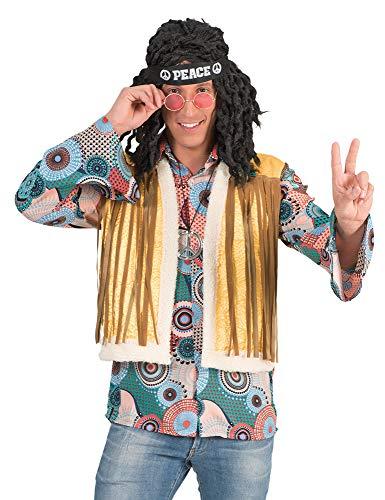 Retro Hippie Kostüm Brian mit Fransen für Herren - Gr. 52/54