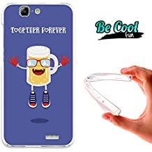 Becool® Fun - Funda Gel Flexible para Huawei Ascend G7 .Carcasa TPU fabricada con la mejor Silicona, protege y se adapta a la perfección a tu Smartphone y con nuestro diseño exclusivo Siempre con mi cerveza
