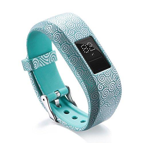mbänder Armbänder Uhrenarmbänder Replacement Watch Band Silikon Drucken Smart Watch Zubehör Uhrenband für Garmin VivoFit Jr/Jr 2 Kids' Fitness (B) ()