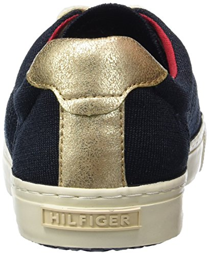 Tommy Hilfiger V1285ali 2c, Sneakers basses femme Bleu - Blau (MIDNIGHT/SNOW WHITE 403)